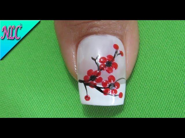 Decoracion De Uñas Flores Rojas decoración de uñas mariposa paso a ...