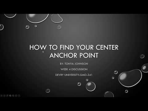 How to find your center anchor point.
