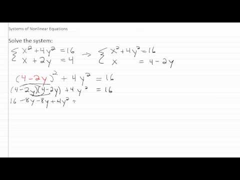 Solving Nonlinear Systems p1