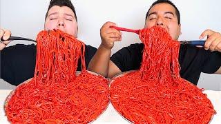 EXTREMELY SPICY FLAMIN HOT CHEETOS NOODLES • Mukbang & Recipe