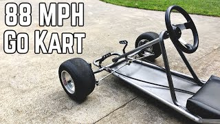 88 MPH DeLorean Kart Build Pt.1 | Vintage Go Kart Chassis