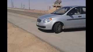 preview picture of video 'Hyundai accent drift in Al Kharj.'
