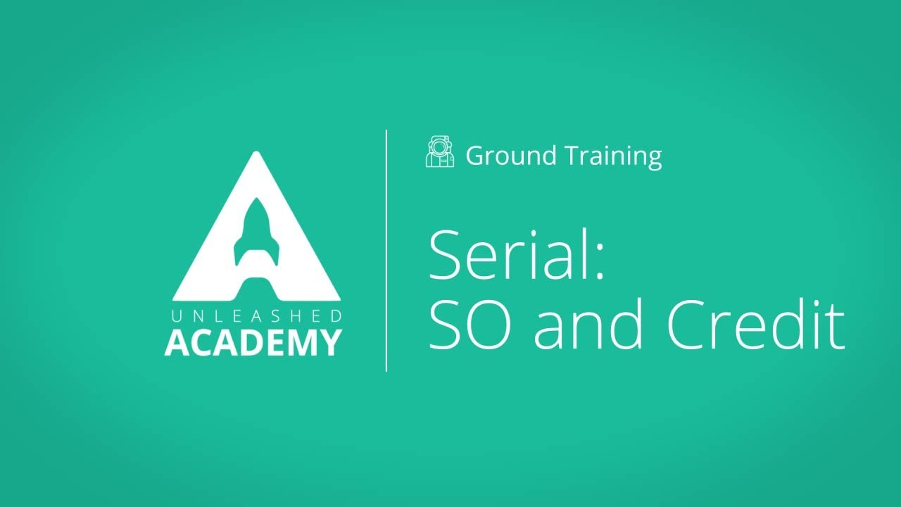 Serial: Sales Order & Credit YouTube thumbnail image