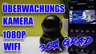 Littlelf 360 Grad 1080P HD Überwachungskamera, Benachrichtigung, App, SD Card Unterstützung, Deutsch
