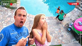 Mom Catches Baby Jumping Into Pool Caught on Camera!!!