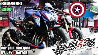 Kawasaki Z800 'Captain America' | Brembo, Rizoma, RnG, RaceFit, Etc