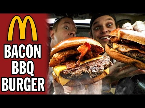 Eating McDonald's Limited Time Bacon BBQ Burger