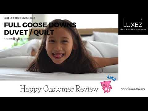 Luxez Full Goose Downs Feather Duvet Customer Review