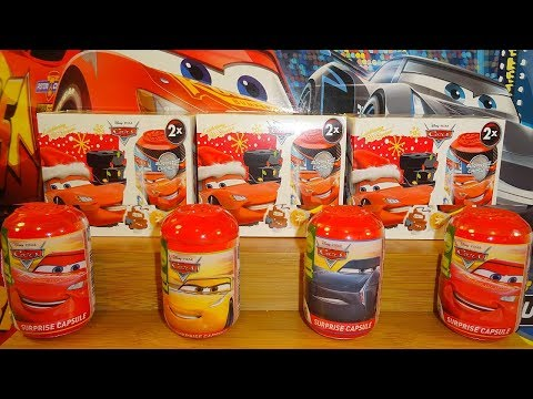 Disney Cars 3 - 12 Surprise Capsule Rubber Figure To Collect In Europe