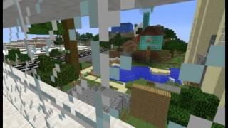 preview picture of video 'Minecraft: Die Elbe zu Lande zu Wasser und aus der Luft'