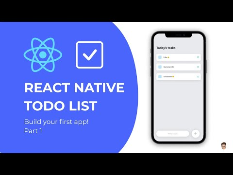 👉 Build your first React Native app - Todo List Tutorial Part 1