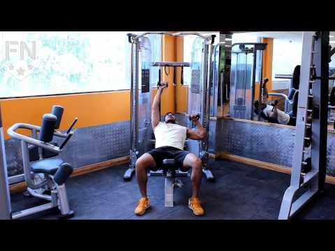 Cable One Arm Standing Incline Chest Press