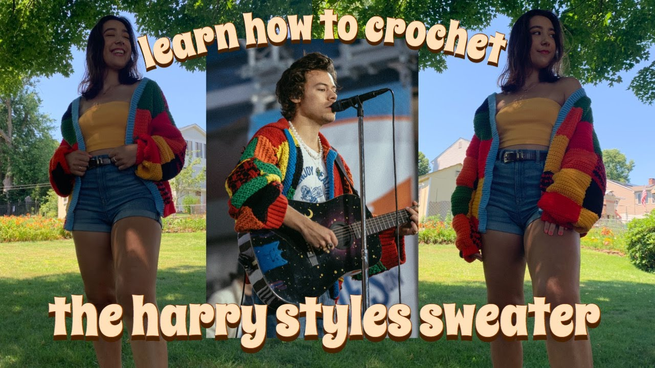 I crocheted the $1600 harry styles sweater so you could too