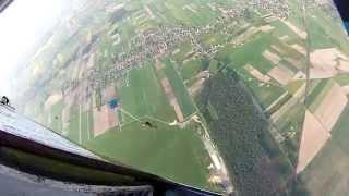 preview picture of video 'Skok z An-2, wys. 1000 m. Polska Nowa Wieś'