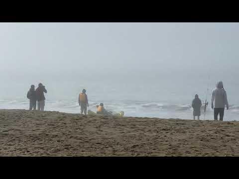 people catching crab on baker beach - San Frachisco