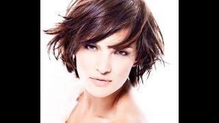 Смотреть онлайн Стрижка каскад на короткие волосы