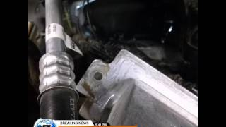 Ford Edge power steering hose replacement.