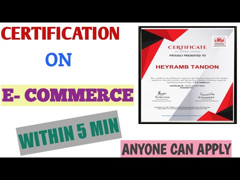 Certification On E-commerce| 100%Free Certificate| Within 5 Min ...