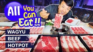 All You Can Eat WAGYU BEEF HOTPOT Shabu BUFFET & WONTON NOODLES in Seattle