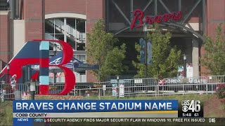 Braves change stadium name