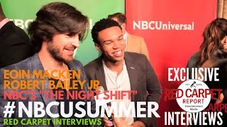 Interview de Eoin Macken & Robert Bailey Jr - NBC Summer 2017