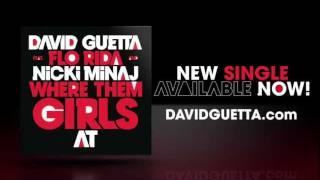 David Guetta feat Flo Rida & Nicki Minaj - Where Them Girls At - Lyrics video