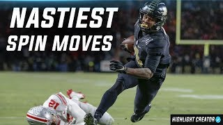 Nastiest Spin Moves of the 2018-19 College Football Season [Part 1] ᴴᴰ