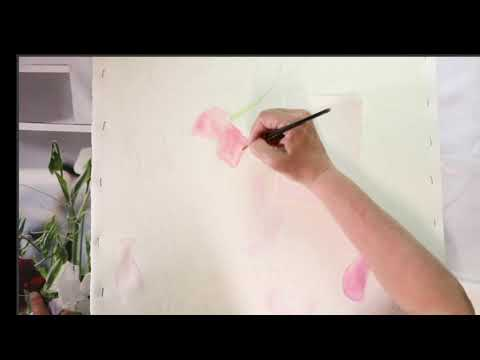 , title : 'How to paint Sweet Peas in Watercolour - Live