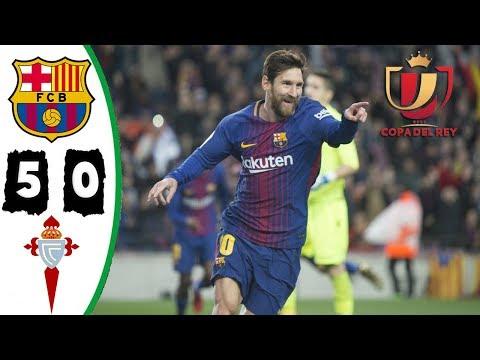 Barcelona vs Celta Vigo 5-0 Resumen Highlights La Copa 11/01/2018