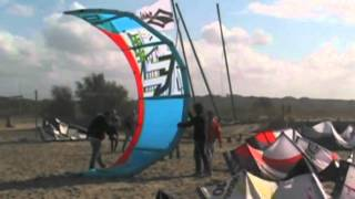preview picture of video 'kitesurf test 2010 Rambla, Maccarese'
