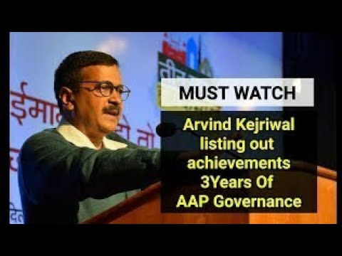 Delhi CM Arvind Kejriwal at the celebration of 3 years of AAP Government