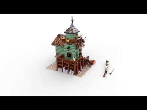 Конструктор Старый рыболовный магазин - LEGO IDEAS - фото № 7