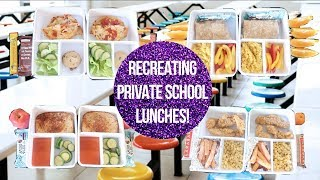 Recreating Private School Cafeteria Lunches! Fancy Lunch Menu!
