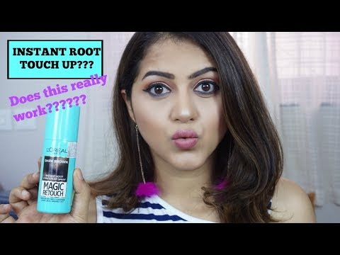 LOREAL MAGIC RETOUCH INSTANT ROOT CONCEALER TRY ON | GoGlam