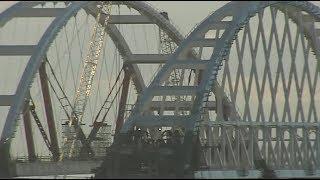 Крымский мост. Установлена вторая арка. 13.10.2017