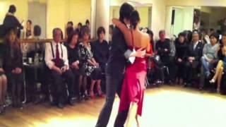 Tzu-Han& Kyoko  Tango Demonstration at G-BOX  2012.Jan.3