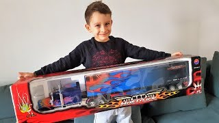 Frank gets Optimus Prime Truck !
