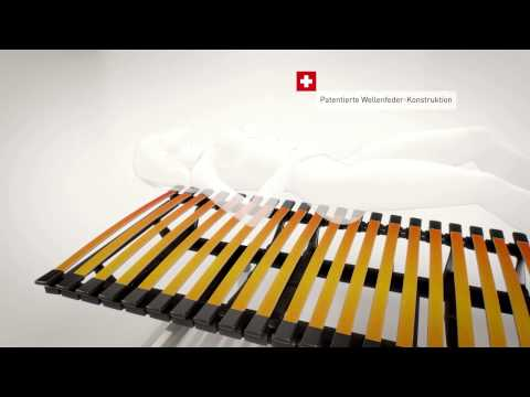 Swissflex uni 22 bridge Lattenrost verstellbar 3 Video