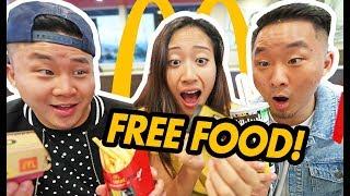 How To Win Free McDonald's w/ The New TRICK. TREAT. WIN! Leenda D, Fung Bros