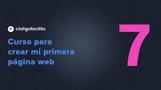 7.- Mi primera página Web - Primer documento HTML