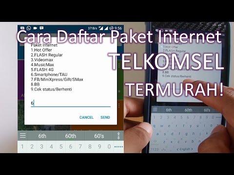 Video Cara Daftar Paket Internet Android Telkomsel Termurah