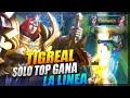 TIGREAL TOP GLOBAL JUEGA ASI,REVIENTA SOLO TOP Y GANA LINEA 😱 | SEASON 18 | MOBILE LEGENDS ESPAÑOL