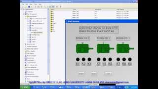 Video Điều khiển 3 động cơ bơm 3 pha không đồng bộ sử dụng điện áp 380VAC/3 phase luân phiên