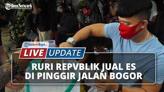 LIVE UPDATE: Tidak Gengsi, Ruri Repvblik Jual Es di Pinggir Jalan Bogor: Bayar Seikhlasnya
