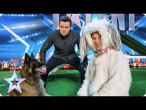 Can David Walliams Beat A Dog In An Agility Test? | Audition Week 1 | Britain's Got Talent 2015