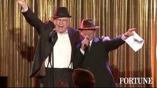 Warren Buffett sings Sinatra to 400 women | Fortune MPW