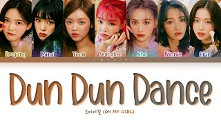 OH MY GIRL Dun Dun Dance Lyrics (오마이걸 던 던 댄스 가사) [Color Coded Lyrics/Han/Rom/Eng]