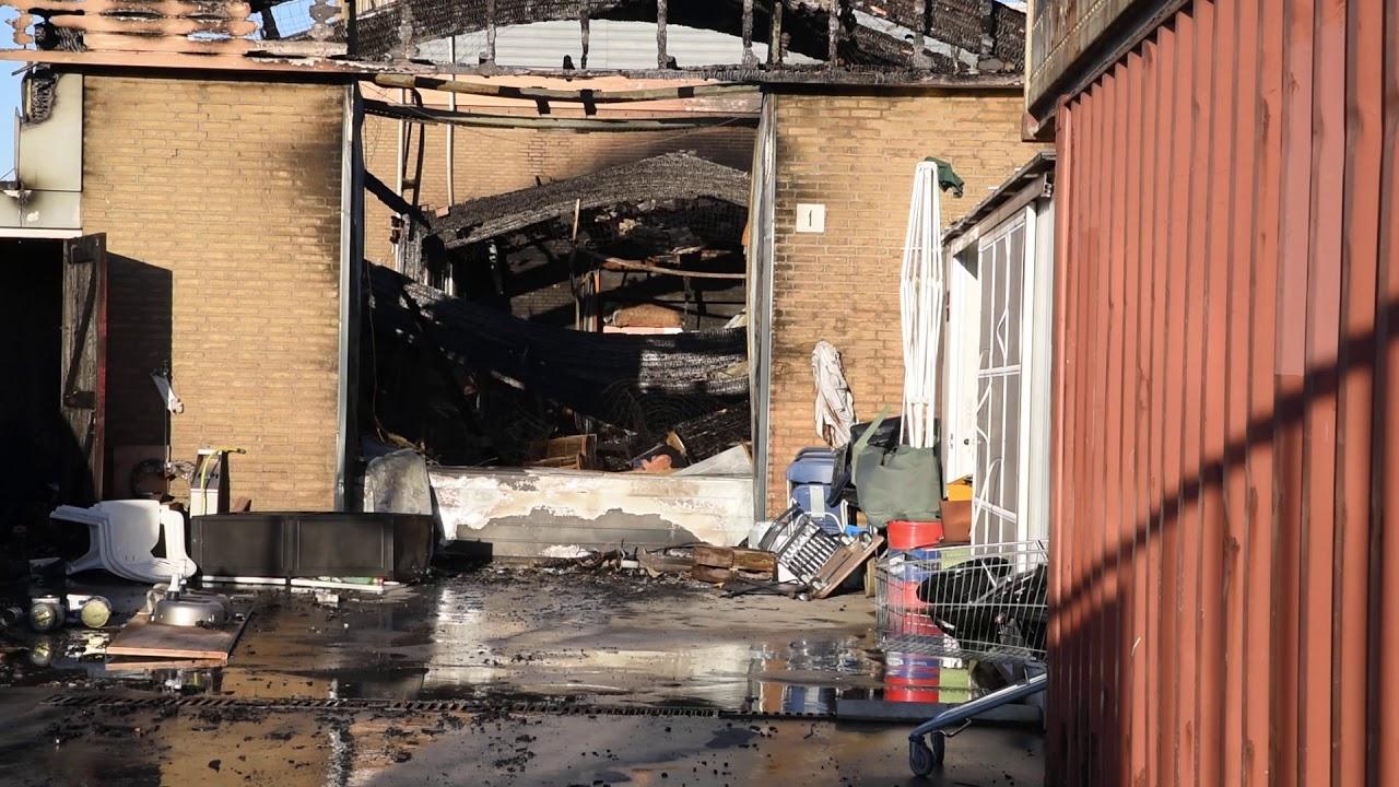 Dag na de Grote Brand in de Zekkenstraat in Hoek van Holland