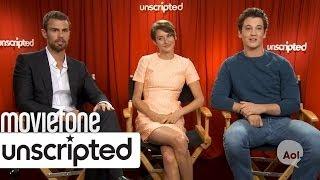 Divergent   Unscripted   Shailene Woodley, Miles Teller, Theo James