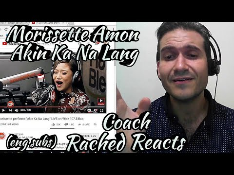 Vocal Coach Reacting With English Subs This Time - Morissette Amon - Akin Ka Na Lang - Wishbus